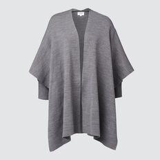 Rib Sleeve Poncho  CHARCOAL  hi-res