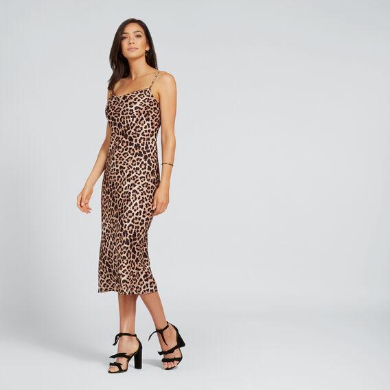 Printed Slip Dress  LEOPARD PRINT  hi-res