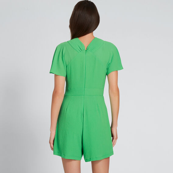 Crinkle Playsuit  WASHED GREEN  hi-res