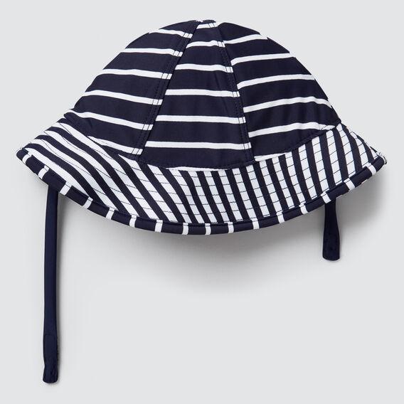 Stripe Swim Hat  MIDNIGHT BLUE  hi-res