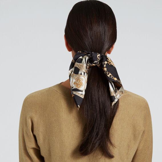 Hair Tie Scarf  CHAIN PRINT  hi-res