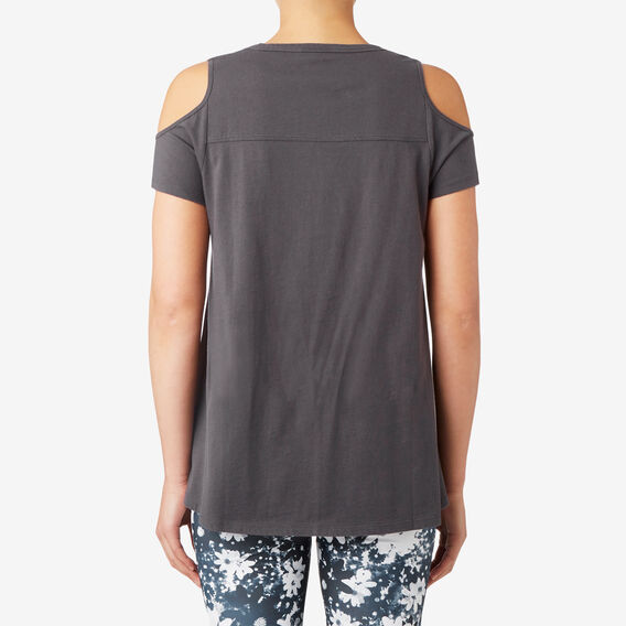 Cold Shoulder Tee  WASHED BLACK  hi-res