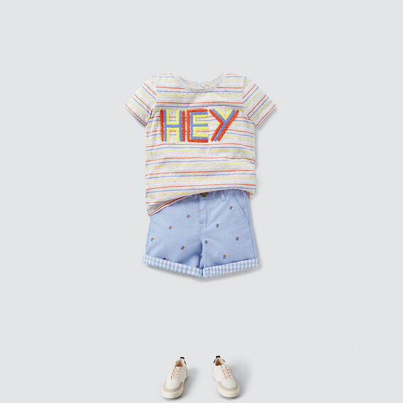 Hey Chenille Tee  CLOUDY MARLE  hi-res