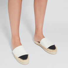 Lou Flatform Mule  CREAM/BLACK  hi-res