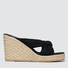 Polly Wedge Espadrille  BLACK  hi-res