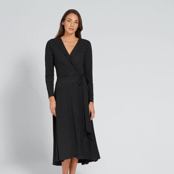 Spot Wrap Dress  SPOT  hi-res