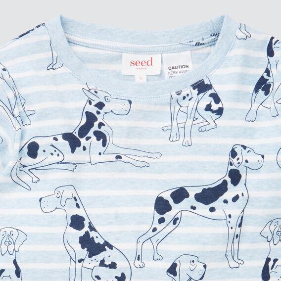 Dog Yardage Pyjamas  SLEEPY BLUE MARLE  hi-res