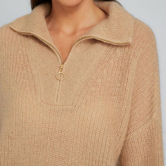 Ladder Stitch Sweater  SOFT BEIGE  hi-res