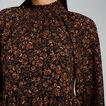 Shirred Floral Dress  FLORAL  hi-res