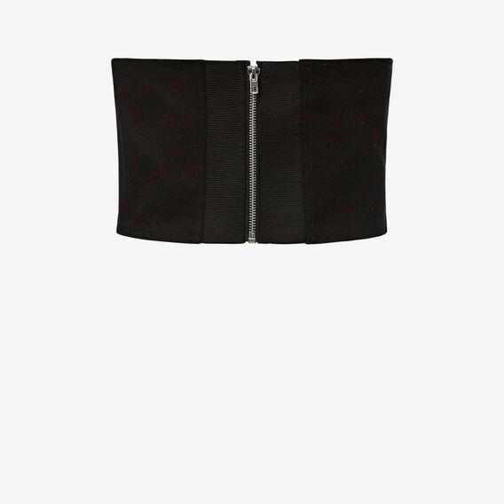Lace Up Corset  BLACK  hi-res