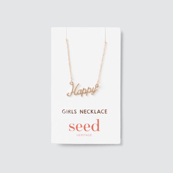 Happy Necklace  ROSE GOLD  hi-res