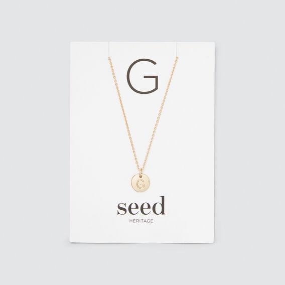Initial Disc Necklace  G  hi-res