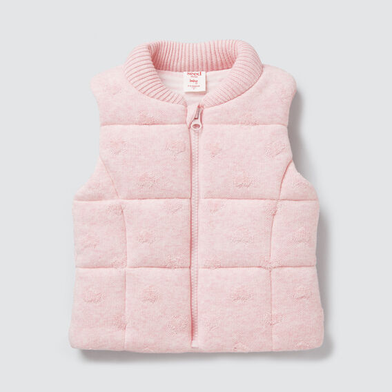 Heart Knit Vest  ICE PINK MARLE  hi-res