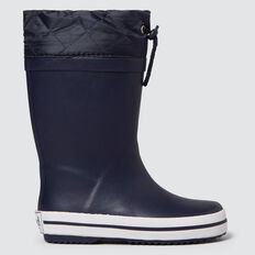 Cuff Gumboot  NAVY  hi-res