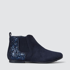Metallic Back Boot  NAVY  hi-res