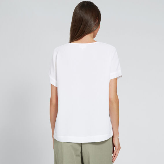 Oversized Textured Top  WHISPER WHITE  hi-res