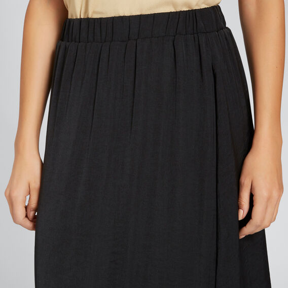 Flowing Midi Skirt  BLACK  hi-res