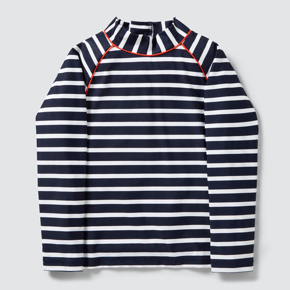 Stripe Zip Up Rashie  MIDNIGHT BLUE  hi-res