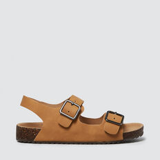Tan Double Buckle Slide  TAN  hi-res