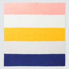 Colour Block Knit Blanket  MULTI  hi-res