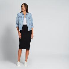 Ribbed Jersey Skirt  BLACK  hi-res