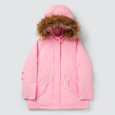 Faux Fur Trim Anorak  PINK BLUSH  hi-res