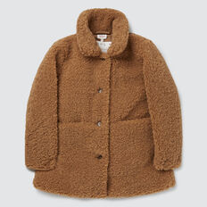 Teddy Coat  DARK BISCUIT  hi-res