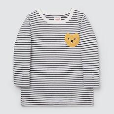 Stripe Bear Tee  MIDNIGHT BLUE  hi-res