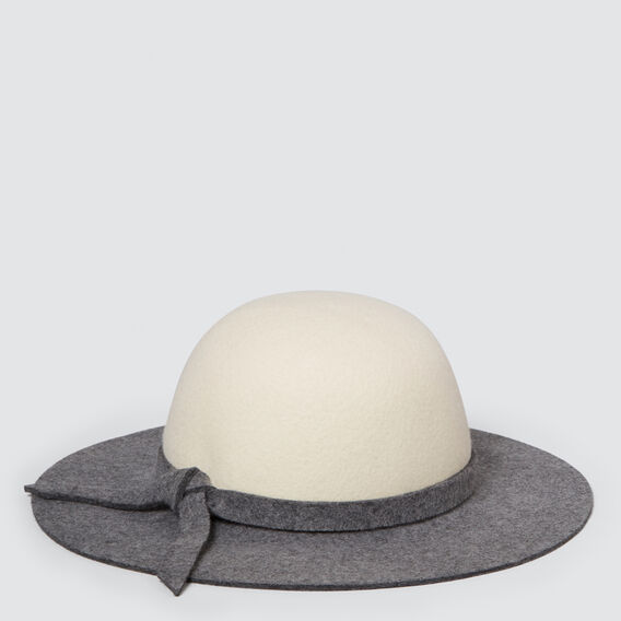 Colour Block Floppy Hat  CHARCOAL  hi-res