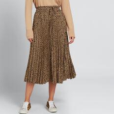 Pleated Skirt  ANIMAL PRINT  hi-res