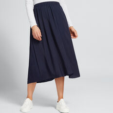 Flowing Midi Skirt  NAUTICAL BLUE  hi-res