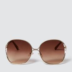 Audrina Metal Sunglasses  GOLD  hi-res