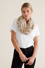 Abstract Ocelot Snood  WALNUT  hi-res