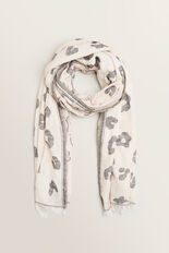 Snow Leopard Scarf  WALNUT  hi-res