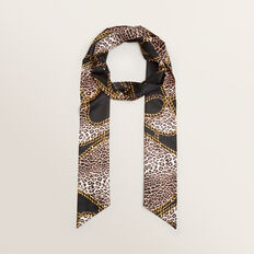 Chain Animal Scarf  BLACK MULTI  hi-res