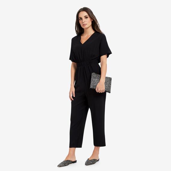 Cinched Waist Jumpsuit  BLACK  hi-res