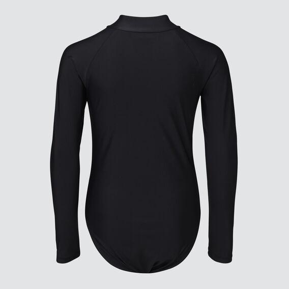 Zip-Front Swimsuit  BLACK  hi-res