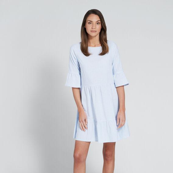 Tiered Stripe Dress  CHAMBRAY STRIPE  hi-res