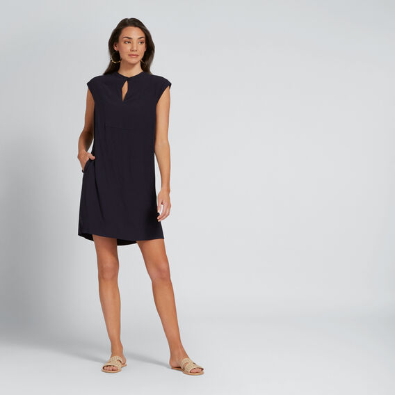 High-Neck Shift Dress  DEEP NAVY  hi-res
