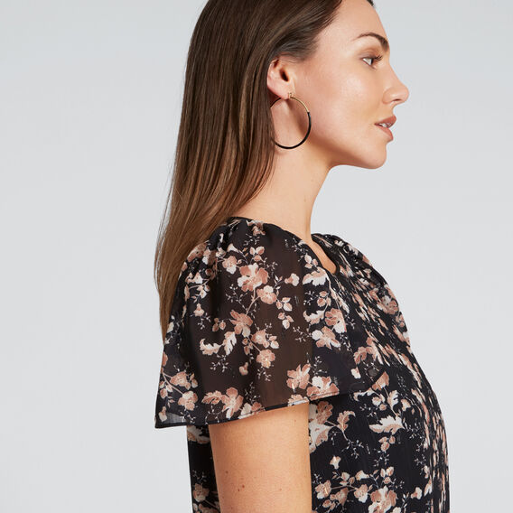 Textured Floral Top  FLORAL  hi-res