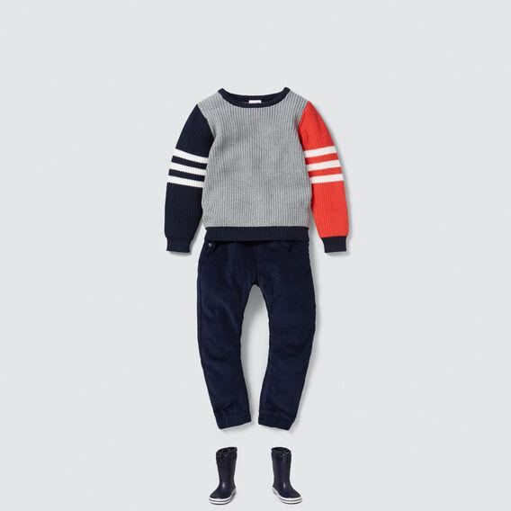 Sporty Stripe Sweater  MULTI  hi-res