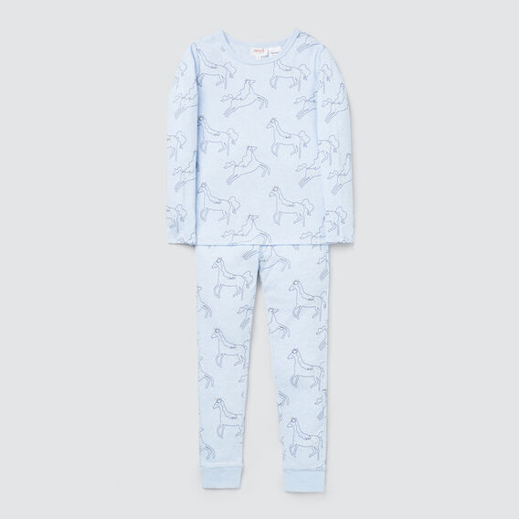 Unicorn Long Sleeve Pyjamas  BLUE MARLE  hi-res