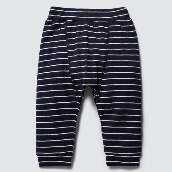 Stripe Splice Harem Pant  MIDNIGHT BLUE  hi-res
