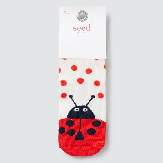 Ladybug Socks  RED  hi-res