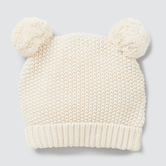 Knit Pom Pom Beanie  RICH CREAM  hi-res