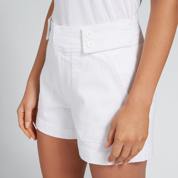Button Detail Short  WHISPER WHITE  hi-res