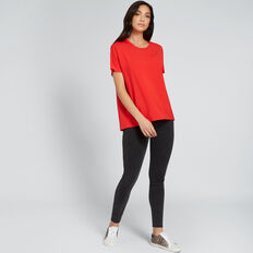 Woven Back Top  FIERY RED  hi-res