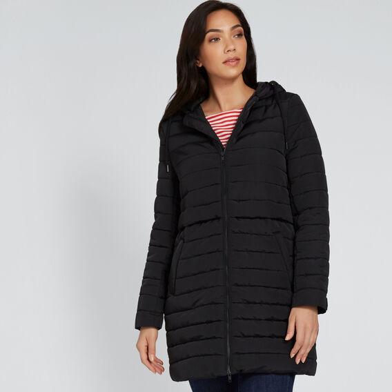 Lightweight Puffer Jacket  BLACK  hi-res