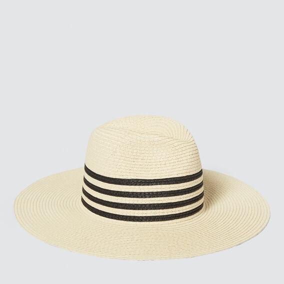 Stripe Band Panama  CREAM/BLACK  hi-res