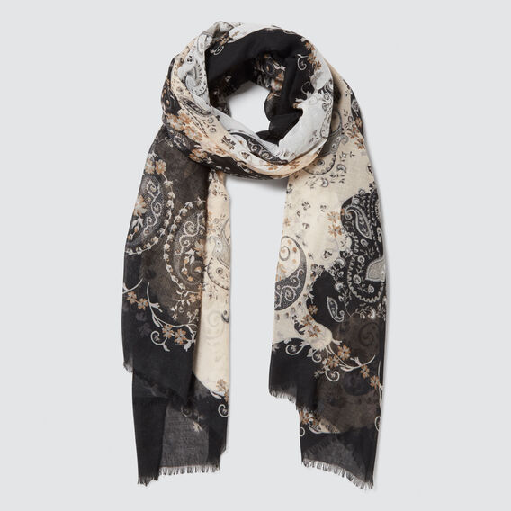 Pretty Paisley Scarf  GREY MULTI  hi-res